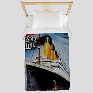 Vintage Titanic Travel Twin Duvet