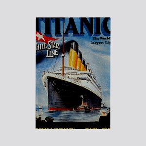 Vintage Titanic Travel Rectangle Magnet