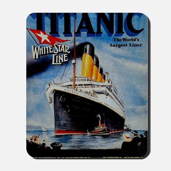 Vintage Titanic Travel Mousepad