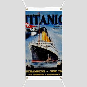 Vintage Titanic Travel Banner