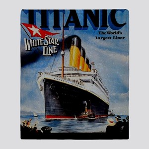Vintage Titanic Travel Throw Blanket