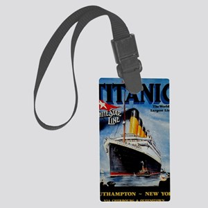 Vintage Titanic Travel Large Luggage Tag