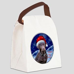 Labrador Retriever Christmas Canvas Lunch Bag