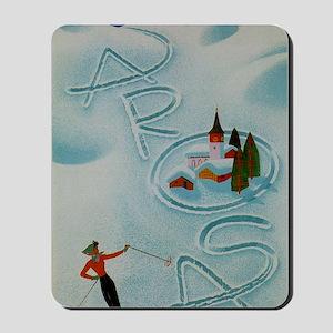 Vintage Arosa Switzerland Travel Mousepad