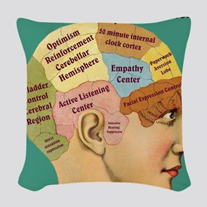 Inside a Therapists Brain Woven Throw Pillow