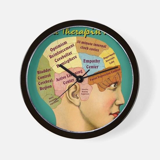 Inside a Therapists Brain Wall Clock