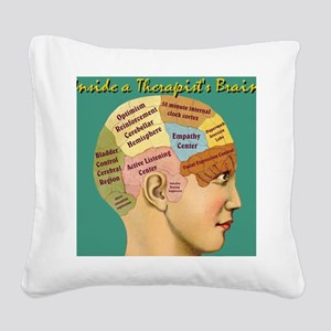 Inside a Therapists Brain Square Canvas Pillow