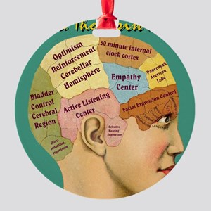 Inside a Therapists Brain Round Ornament