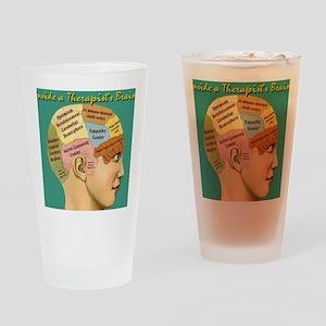 Inside a Therapists Brain Drinking Glass