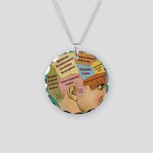 Inside a Therapists Brain Necklace Circle Charm