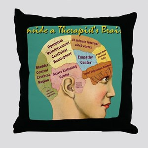Inside a Therapists Brain Throw Pillow