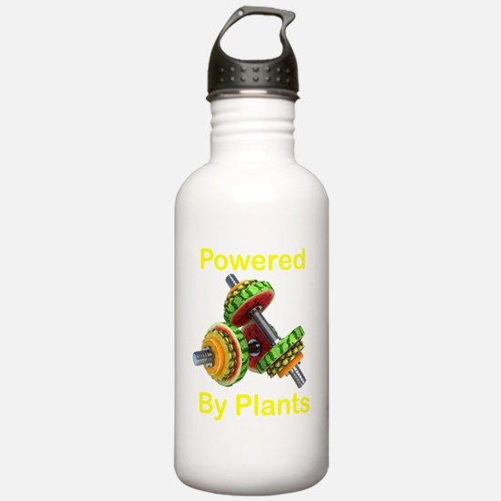 Yellow Text Powered by Water Bottle