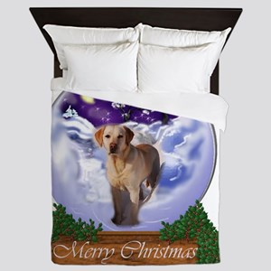Yellow Labrador Retriever Christmas Queen Duvet