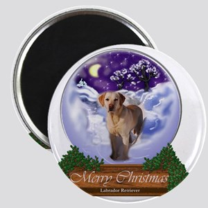 Yellow Labrador Retriever Christmas Magnet