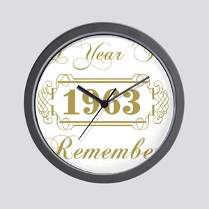 1963 A Year To Remember Wall Clock