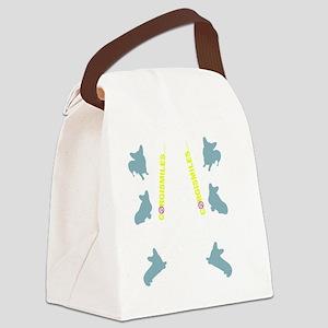 Corgi Sil FlipFlops Canvas Lunch Bag