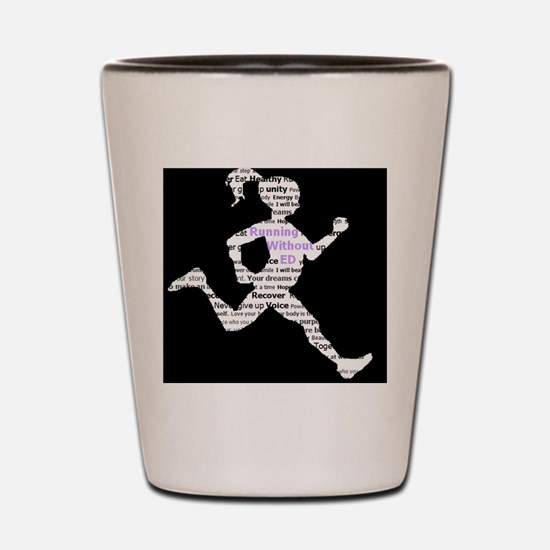 Running Without Ed Logo Shot Glass