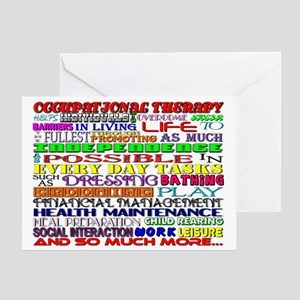 Occupational therapy greeting cards cafepress ot words greeting card m4hsunfo
