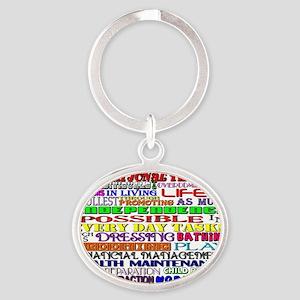 OT Words Oval Keychain