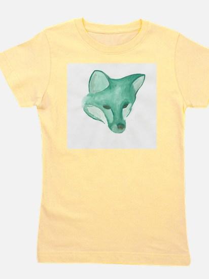 Foxy Head (teal) Girl's Tee