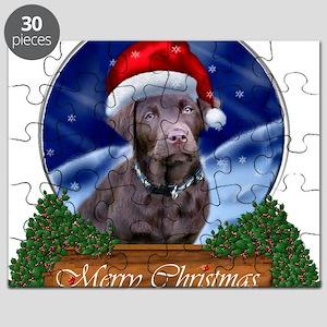 Labrador Retriever Christmas Puzzle
