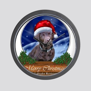 Labrador Retriever Christmas Wall Clock
