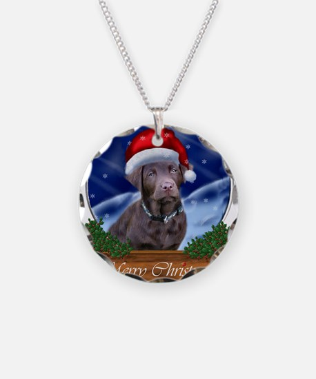 Labrador Retriever Christmas Necklace