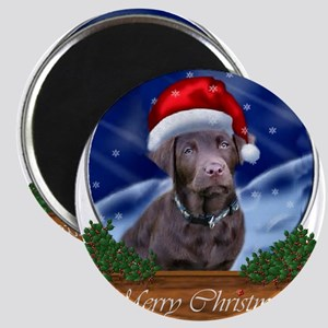 Labrador Retriever Christmas Magnet