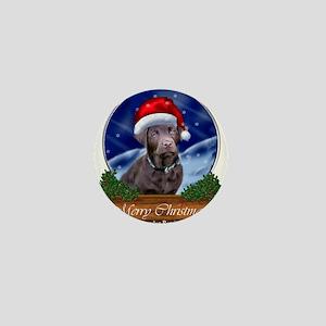 Labrador Retriever Christmas Mini Button