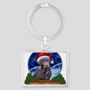 Labrador Retriever Christmas Landscape Keychain