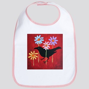 Crow in the Daisies Bib