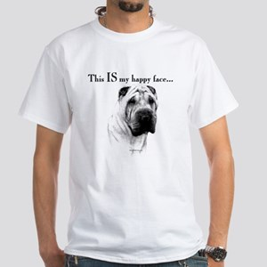 Shar Pei Happy White T-Shirt