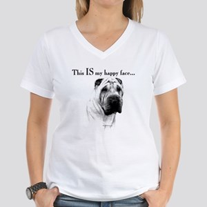 Shar Pei Happy Women's V-Neck T-Shirt