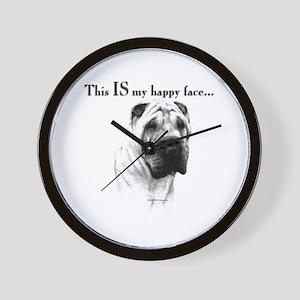 Shar Pei Happy Wall Clock