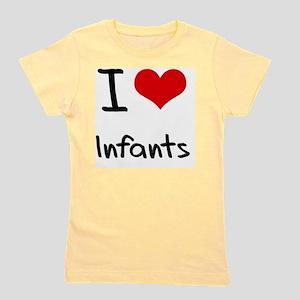 I Love Infants Girl's Tee