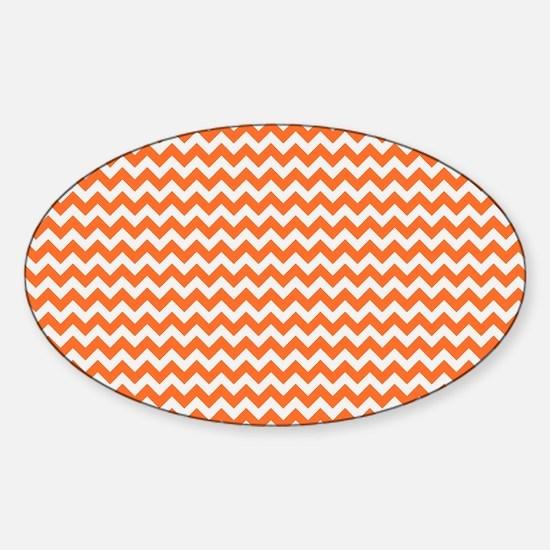Chevron Orange Sticker (Oval)