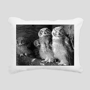 peek a boo Rectangular Canvas Pillow