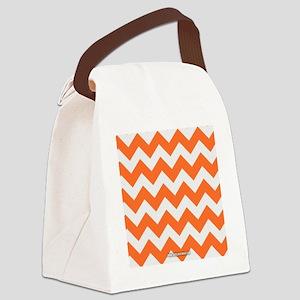 Chevron Orange Canvas Lunch Bag