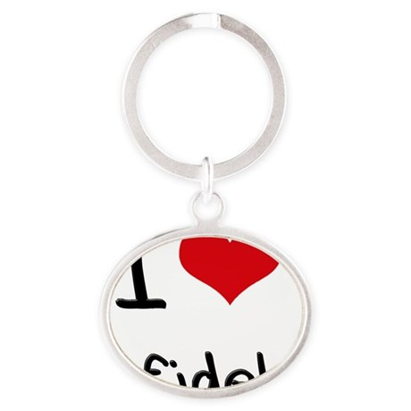 I Love Infidels Oval Keychain