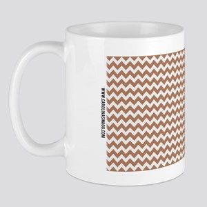 Chevron Tan Mug