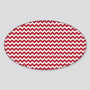 Chevron Red Sticker (Oval)