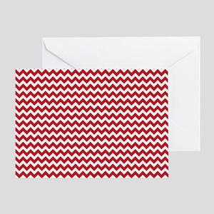 Chevron Red Greeting Card