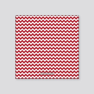 "Chevron Red Square Sticker 3"" x 3"""