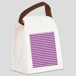 Chevron Purple Canvas Lunch Bag