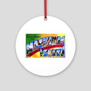 Mackinac Island Michigan Ornament (Round)