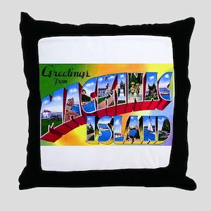 Mackinac Island Michigan Throw Pillow