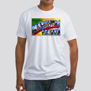 Mackinac Island Michigan (Front) Fitted T-Shirt