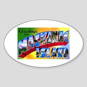 Mackinac Island Michigan Oval Sticker
