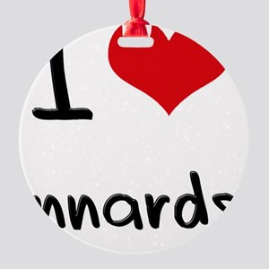 I Love Innards Round Ornament