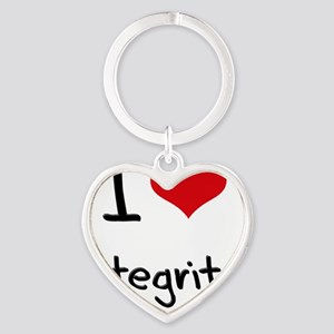 I Love Integrity Heart Keychain